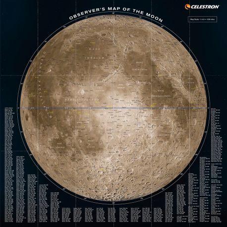 Mapa Celestron del Observador Lunar