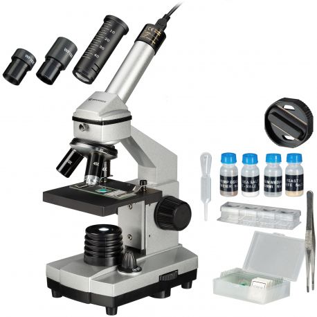 Microscopio Bresser Junior 40x-1024x con Kit de iniciación