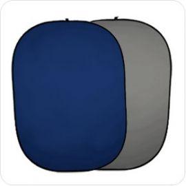 Fondo Plegable Ultralyt Chroma Key Azul-Gris de 100x150cm