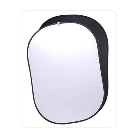 Fondo Plegable Ultralyt Chroma Key Blanco-Negro de 110x168 cm
