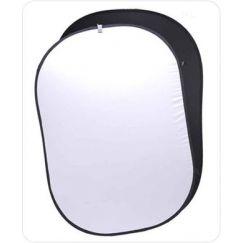 Fondo Plegable Ultralyt Chroma Key Blanco-Negro de 102x153cm
