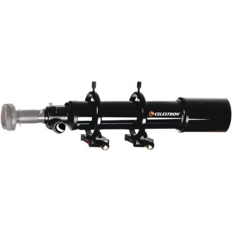Conjunto de telescopio guia Celestron 80mm y anillas de 125mm