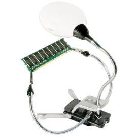 Lupa Articulada Bresser con 2 Brazos Largos/Pinzas - LED - 2X-4X
