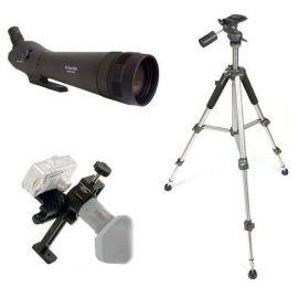 Kit Digiscoping  80EX - Telescopio zoom 24-72x + Adaptador + Trípode