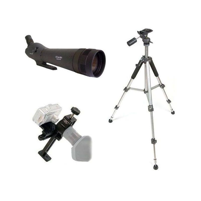 Kit Digiscoping 80EX - Telescopio + Adaptador + Trípode Aluminio