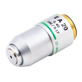 Objetivo EA20x DIN (Extra Acromático) para microscopio