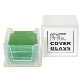 Cubreobjetos de cristal Bresser 22 x 22 mm -100 Uds