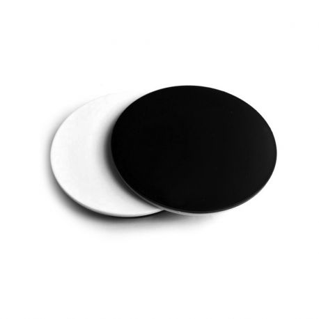 Pletina opaca circular Euromex Blanco y Negro de 60 mm para lupa binocular