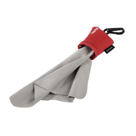 Hama Pocket - Gamuza de microfibra con bolsa de neopreno Roja