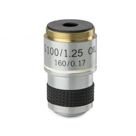 Objetivo DIN 35mm Acromático S100X/1.25 retráctil de inmersión Euromex