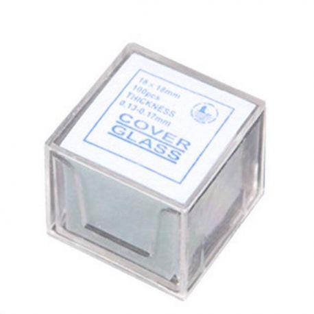 Cubreobjetos Ultralyt de Cristal de 18 mm para Microscopía