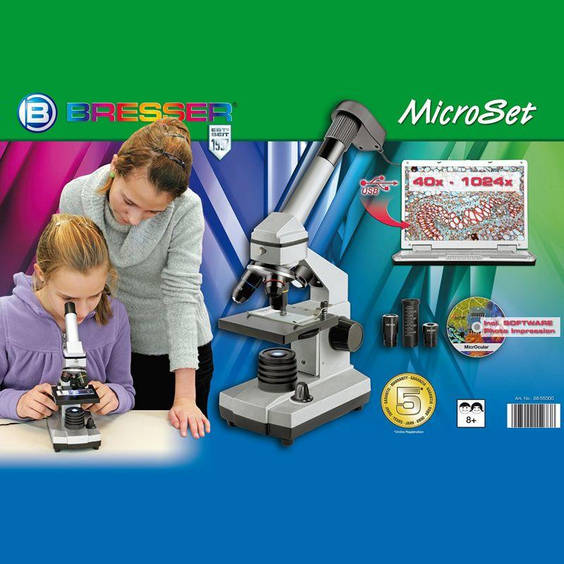 Microscopio Bresser Junior 40-1024x USB MicroSet
