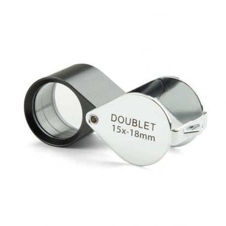 Lupa Doblete Aplanática Plegable Euromex 15x 18 mm