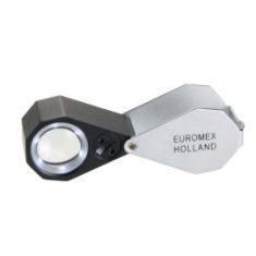 Lupa Triplete Acromática Plegable Euromex 20x 21 mm - LED Blanco