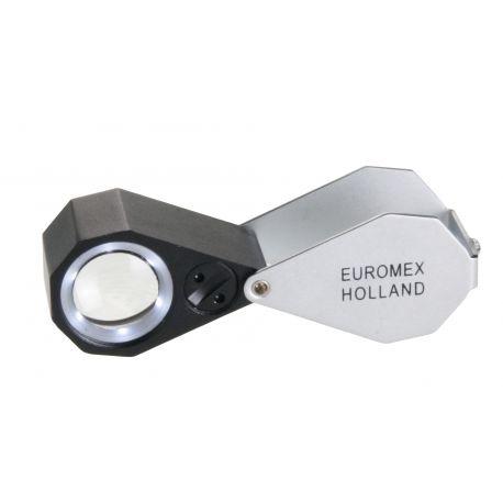 Lupa Triplete Acromática Plegable Euromex 30x 21 mm - LED Blanco