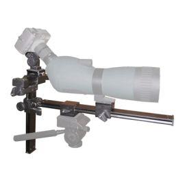 Adaptador digiscoping de camara a telescopio terrestre