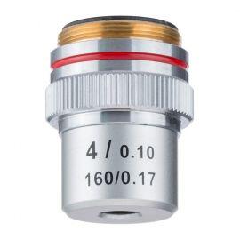 Objetivo DIN 45 mm Acromático 4x/0.10 para Microscopio Biológico