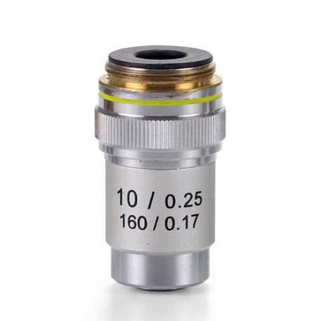 Objetivo DIN 45 mm Acromático 10x/0.25 para Microscopio Biológico