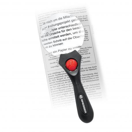 Lupa de mano Bresser con luz LED 2,5x90 y 4x20