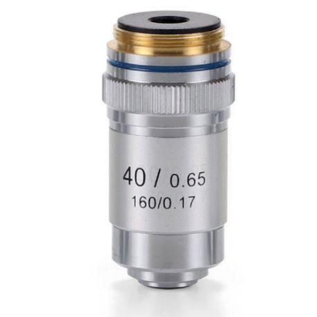 Objetivo DIN 45 mm Acromático S40x/0.65 para Microscopio Biológico
