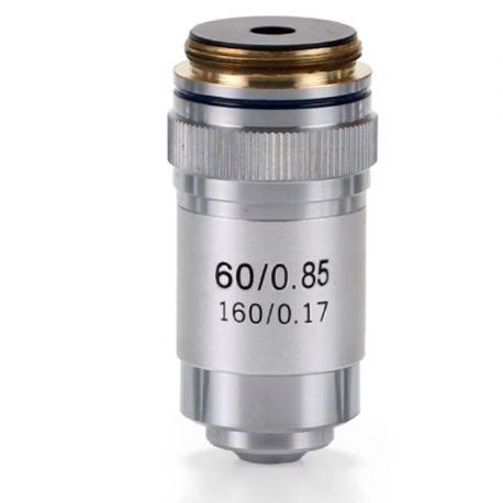 Objetivo DIN 45 mm Acromático S60x/0.85 para Microscopio Biológico