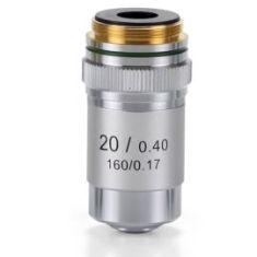 Objetivo DIN 45 mm Acromático 20x/0.40 para Microscopio Biológico