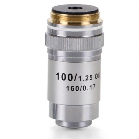 Objetivo DIN 45 mm Acromático S100x/1.25 para Microscopio Biológico