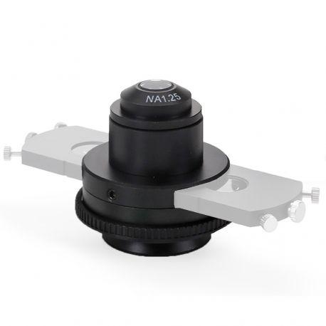 Condensador Abbe A.N. 1.25 Euromex BScope con Lámina de Campo Oscuro