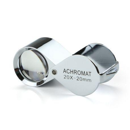 Lupa Triplete Acromática Plegable Euromex 20x 20 mm