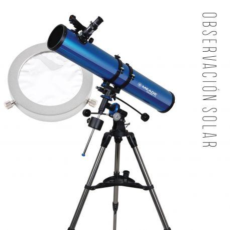 Pack Solar Telescopio Reflector Meade Polaris 114EQ y Filtro Ultralyt