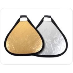 Reflector Ultralyt triangular plata/oro de 80 cm