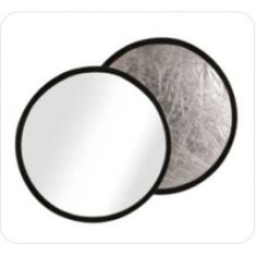 Reflector Ultralyt circular blanco/plata  de 56 cm