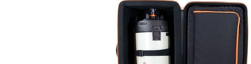 Encuentre aquí la bolsa ó maleta de transporte adecuada para su tubo óptico. Todos los productos en stock. Envíos en menos de 24h. Tienda física en Madrid.