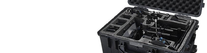 Amplia gama de cajas y maletas estancas para el transporte de equipos de fotografía y ópticos. También accesorios para las cajas. Local en Madrid. Envíos 24h.
