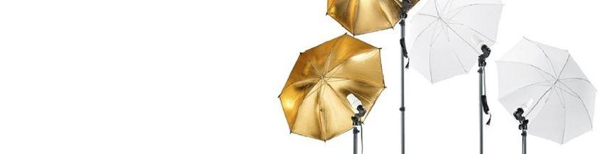 Amplio catálogo de iluminación y equipo para estudio de fotografía. Flashes, focos, ventanas, fondos, cubos, paraguas, reflectores y mucho más. Envíos 24h.