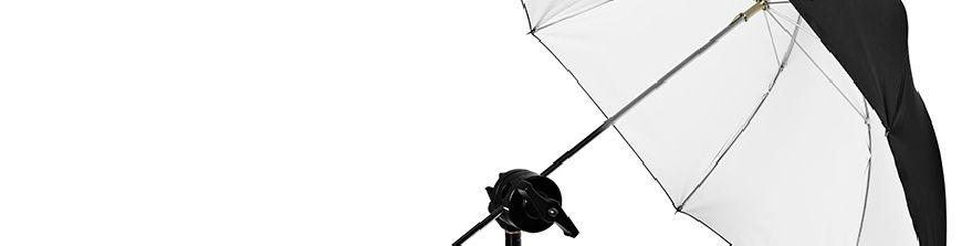 Amplia gama de paraguas para fotografía de estudio. Permiten controlar la luz para conseguir los resultados deseados. Todos los paraguas en stock.
