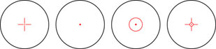 B & Crown Red Dot Sight 33mm - Modelos de Reticulas