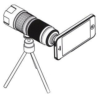 Teleobjetivo Khama para smartphone - Esquema de instrucciones A