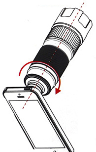 Teleobjetivo Khama para smartphone - Esquema de instrucciones B